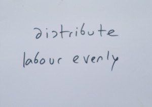 distribute labour evenly
